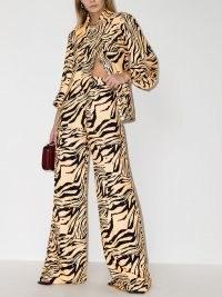 USISI SISTER Jacquetta tiger-print shirt | bold animal print shirts