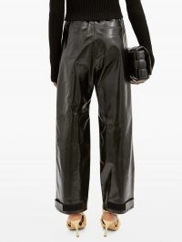 BOTTEGA VENETA Adjustable-cuff leather trousers