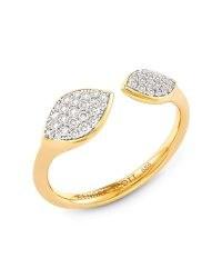 KENDRA SCOTT Adrian 14k Yellow Gold Open Ring In White Diamond | rings | jewelry | fine jewellery | diamonds