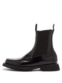 HEREU Alda Sport leather boots / black chelsea / loafer boot