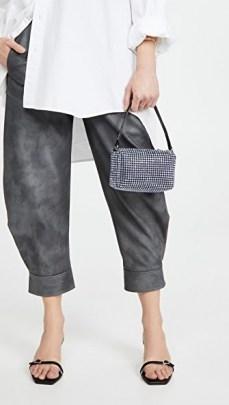 Alexander Wang Heiress Medium Pouch ~ mini rhinestone bags - flipped