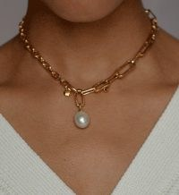 Monica Vinader Alta Pearl Necklace Set | chain link necklaces | pearls | contemporary luxe jewellery | jewelry sets
