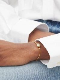 THEODORA WARRE Amethyst & emerald snake-chain bracelet ~ modern luxe jewellery