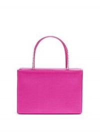 AMINA MUADDI Amini Gilda crystal satin box bag ~ small pink handbag ~ luxe bags