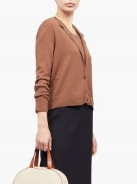 THE ROW Annamaria cashmere cardigan ~ classic camel-brown cardigans