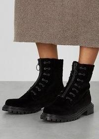 AQUAZZURA Kicks 40 black velvet ankle boots