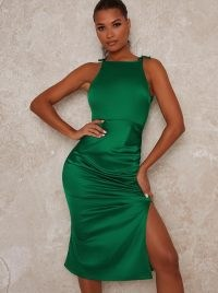 Chi Chi Nolla Dress – green going out dresses