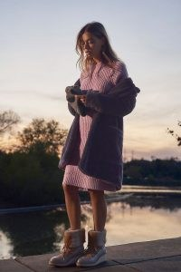 Allison Melia Sweater Tunic Dress / lavender knitted dresses
