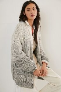 Maeve Persephone Chunky Knit Cardigan / oversized open front cardigans