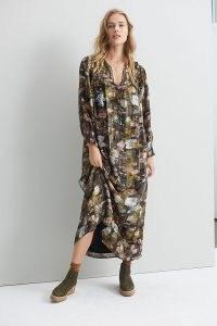 ANTHROPOLOGIE Blair Shimmer Maxi Dress / metallic detail dresses