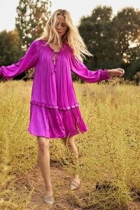 ANTHROPOLOGIE Giulia Tunic Dress ~ pink boho dresses