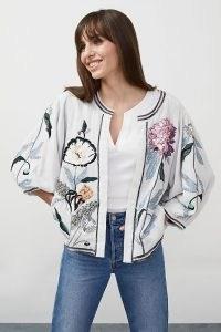 M.A.B.E. Tris Embroidered Jacket | embellished bomber style jackets