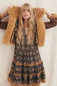 Othilia Almeria Ruffled Mini Dress | vintage style boho dresses