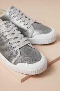Spring Court Metallic Low-Top Trainers Silver