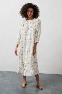 Sleeper Ruffled Lounge Midi Dress / comfy nightwear / loungewear dresses