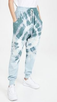 Baja East Harem Sweats Mojave Tie Dye ~ sweatpants ~ cuffed jogging bottoms