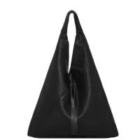 VodkaBlue Black Pebbled Boho Leather Bag