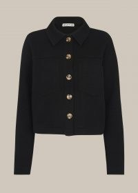 WHISTLES UTILITY JERSEY JACKET / smart little black jackets