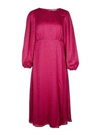OLIVER BONAS Burnout Floral Pink Midi Dress