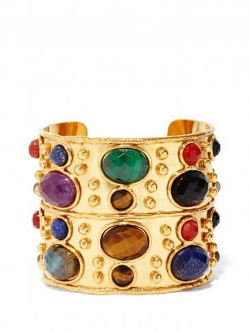 SYLVIA TOLEDANO Byzance malachite, onyx & lapis lazuli cuff ~ multicoloured semi-precious gemstones ~ multi coloured stone cuffs