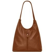 VodkaBlue Camel Soft Leather Slouch Bag ~ slouchy brown handbag