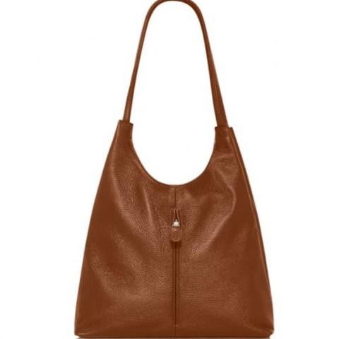 VodkaBlue Camel Soft Leather Slouch Bag ~ slouchy brown handbag