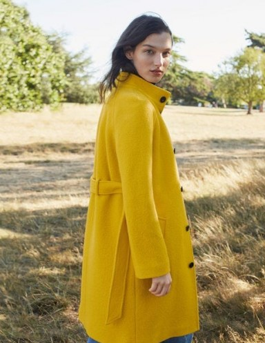 Boden Cartwright Coat – Maize ~ bright yellow coats - flipped