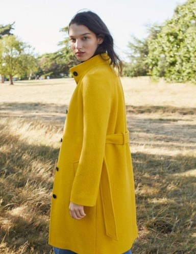 Boden Cartwright Coat – Maize ~ bright yellow coats