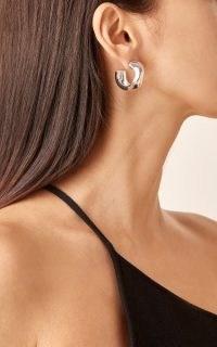 AGMES Celia Medium Sterling Silver Hoop Earrings | chunky hoops