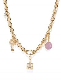 GIVENCHY Charm chainlink necklace ~ designer statement necklaces ~ jewellery with charms attached