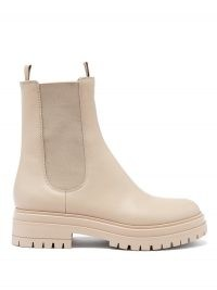 GIANVITO ROSSI Chester trek-sole leather Chelsea boots ~ luxe beige chelsea boot