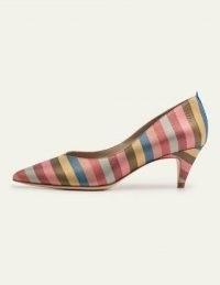 Boden Clara Heels Multi Stripe   multicoloured glitter courts