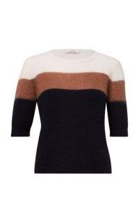 Dorothee Schumacher Colorful Flash Color-Block Alpaca-Blend Sweater
