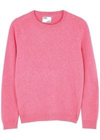 COLORFUL STANDARD Pink merino wool jumper ~ bright crew neck jumpers
