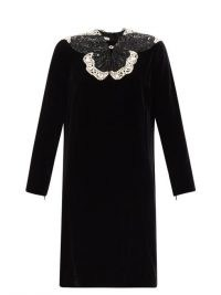 GUCCI Crystal and sequinned butterfly velvet dress ~ lbd