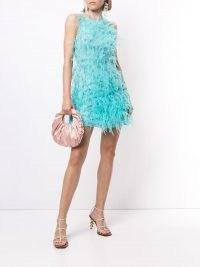 Cult Gaia Shannon feather-detail dress | retro party fashion | vintage evening dresses