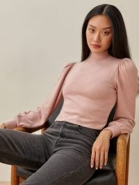 REFORMATION Cydney Top ~ mock neck tops ~ casual style clothing