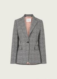 L.K. BENNETT DARLING PRINCE OF WALES CHECK BLAZER / monochrome checked jackets