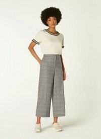 L.K. BENNETT DARLING PRINCE OF WALES CHECK CROPPED TROUSERS / checked crop leg pants