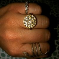 Ouroboros Jewellery Diamond & Gold Sun Ring | round celestial inspired rings