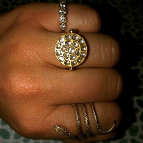 Ouroboros Jewellery Diamond & Gold Sun Ring | round celestial inspired rings