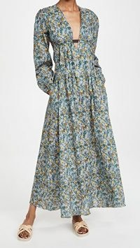 Eywasouls Malibu Nadia Dress in Pineapple Zest / fruit print maxi dresses