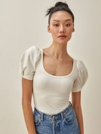 REFORMATION Frances Top ~ sleeve detail tops