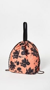 GANNI Bucket Bag ~ large floral drawstring bags