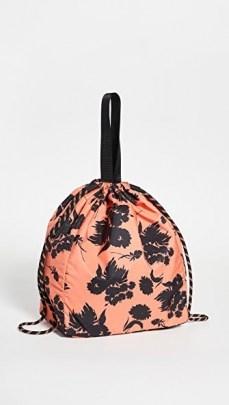 GANNI Bucket Bag ~ large floral drawstring bags - flipped