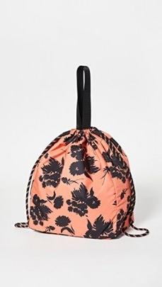 GANNI Bucket Bag ~ large floral drawstring bags