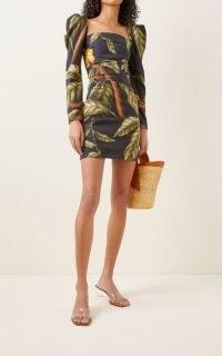 Johanna Ortiz Gathering Nature Printed Crepe Mini Dress