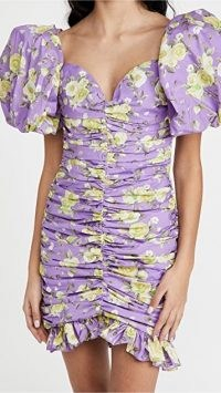 Giuseppe di Morabito Puff Sleeve Dress ~ ruched lilac dresses