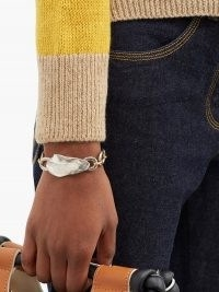 MARNI Hammered mixed-metal bracelet ~ chunky chain bracelets