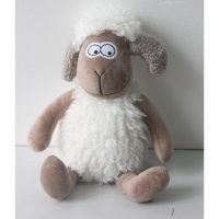 Jeffers Sheep Fabric Weighted Floor Stop by Harriet Bee – Sustainably Sourced – hand finished